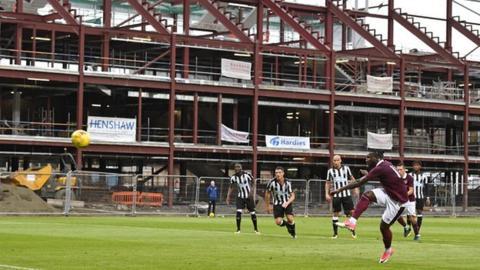 Hearts pre-season friendly against Newcastle