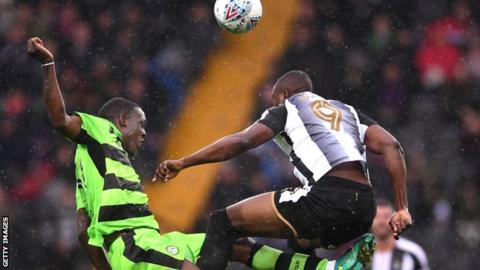 Shola Ameobi in action for Notts County