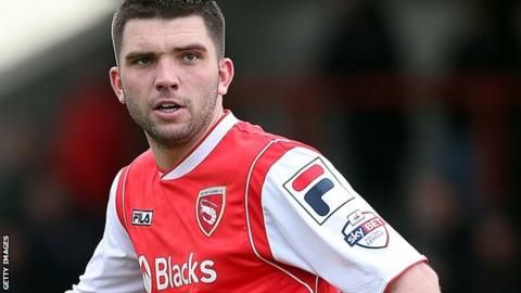 Alex Kenyon in action for Morecambe