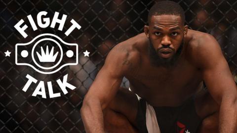Jon Jones with Fight Talk branding