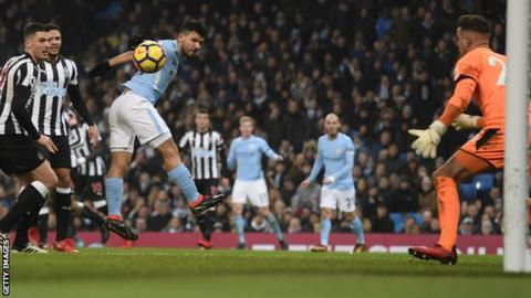 Aguero hat-trick gives Man City victory over Newcastle
