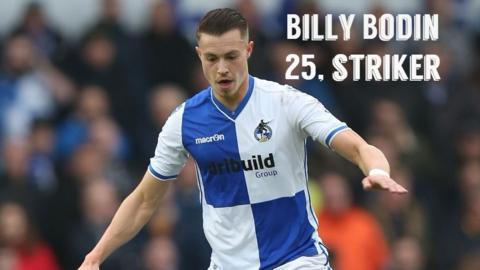 Bristol Rovers striker Billy Bodin