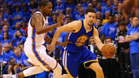 Klay Thompson (right)