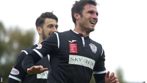 John Sutton playing for St Mirren