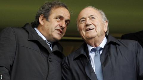 Uefa president Michel Platini (left) with Fifa president Sepp Blatter