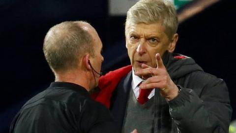 Arsene Wenger was charged with misconduct after the New Year's Eve draw at West Brom