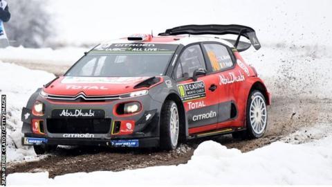 Kris Meeke in Rally Monte Carlo
