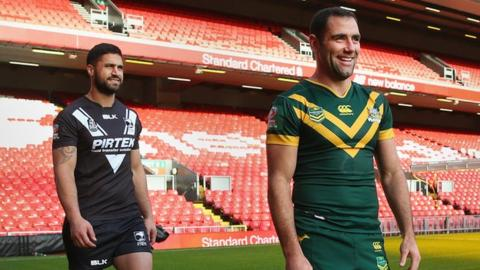 New Zealand's Jesse Bromwich and Australia's Cameron Smith