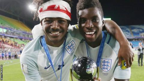 Ainsley Maitland-Niles and Sheyi Ojo