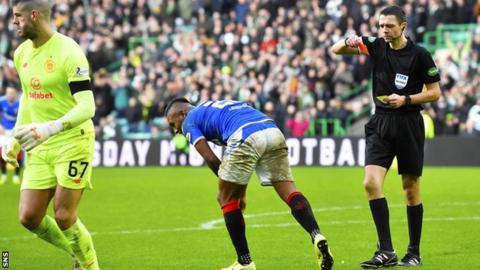 Alfredo Morelos hasn't played since his red card in the 2-1 win at Celtic last month