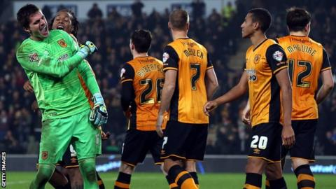 Hull players celebrate