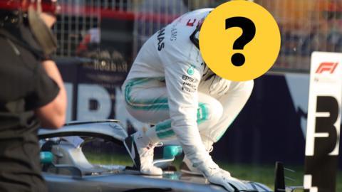 A Formula 1 river hidden by a question mark