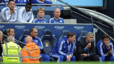 John Terry on the Chelsea substitutes bench