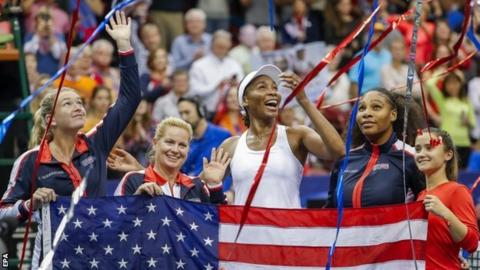 Victorious USA Fed Cup team
