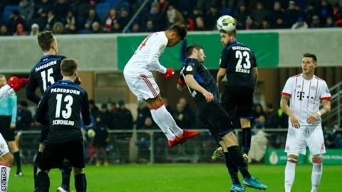 Bayern hit Paderborn for six to reach German Cup semis