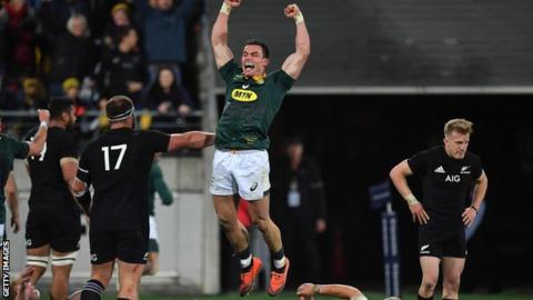 Springboks beat All Blacks at home