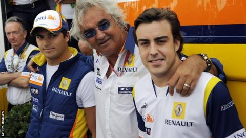 Piquet Jr, Briatore, Alonso, Hockenheim 2008