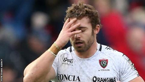 Leigh Halfpenny is dejected at Parc y Scarlets