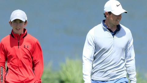 Rory McIlroy and Tom McKibbin