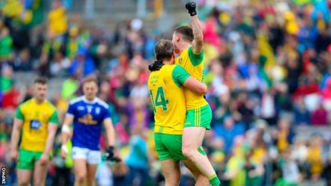 Donegal celebrate after beating Monaghan in the 2019 Ulster SFC final