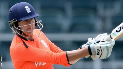 Jenny Gunn helped an England XI to a comfortable victory over Ireland at Sheikh Zayed Nursery Ground Two