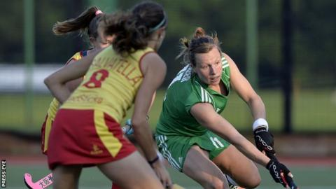 Megan Frazer in action against Spain in June