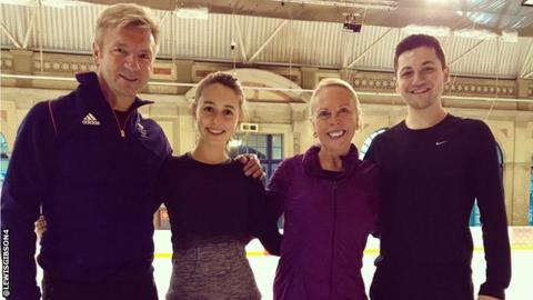 Christopher Dean, Lilah Fear, Jayne Torvill and Lewis Gibson
