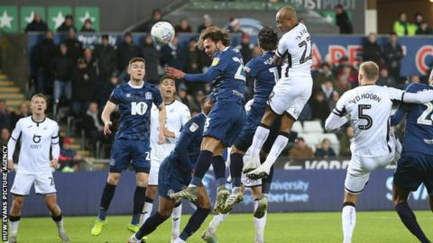 Andre Ayew rescued Swansea with a towering header