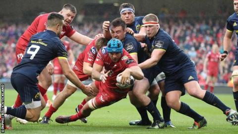 Beirne scored the Scarlets fourth try during their Pro12 final win over Munster