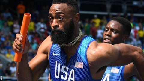 USA sprinter Tyson Gay