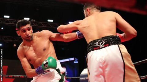 Khan stopped Dib inside four rounds in Jeddah, Saudi Arabia