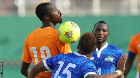 Sierra Leone in action against Ivory Coast