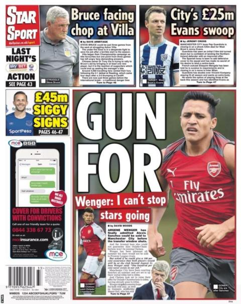 Thursday's Star Sport