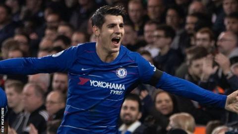 Chelsea forward Alvaro Morata