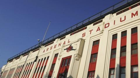 The front of Highbury