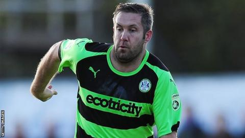 Forest Green Rovers' Jon Parkin