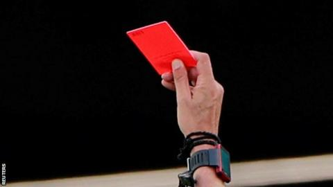 Red cards can now be shown for deliberate coughing in football thumbnail