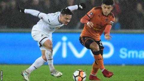 Wolves midfielder Morgan Gibbs-White