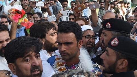 Fakhar Zaman greets supporters