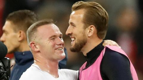 Wayne Rooney and Harry Kane
