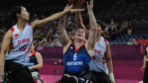 GB wheelchair basketball player Clare Griffiths