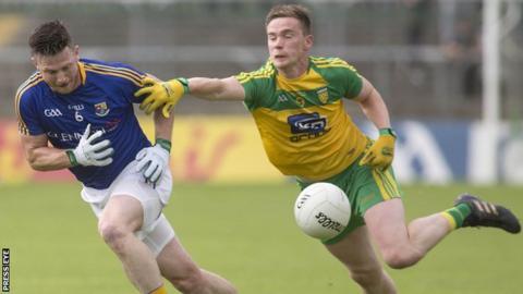 Longford's Michael Quinn and Donegal's Ciaran Thompson