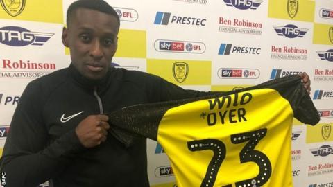 Burton Albion winger Lloyd Dyer
