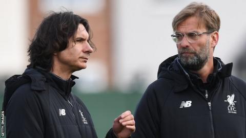 Liverpool assistant manager Zeljko Buvac (left) and Reds manager Jurgen Klopp