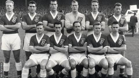 Wales team that played Scotland in October 1958