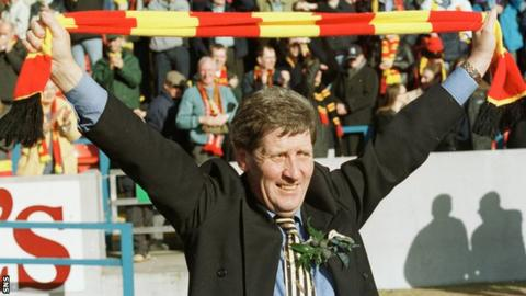 Firhill legend John Lambie led the club on their Intertoto Cup adventure