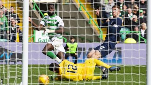 Edouard's second goal gave Celtic a 2-1 lead