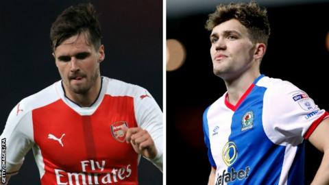 Carl Jenkinson and Sam Gallagher