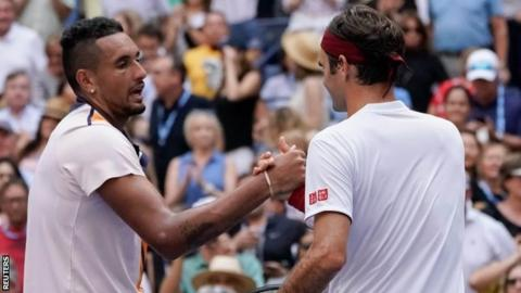 Nick Kyrgios and Roger Federer