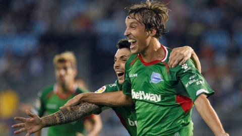 Tomas Pina celebrates